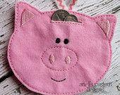 Felt Hanging Pig Piggy Bank - Unbreakable