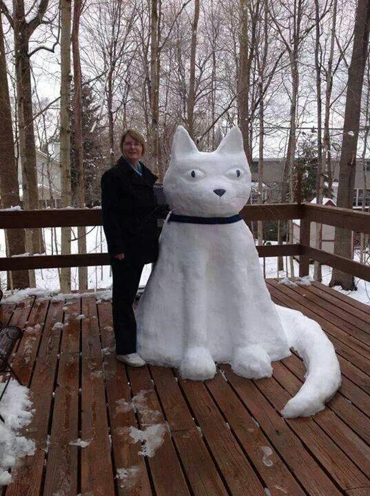 animals made of snow - photo #33