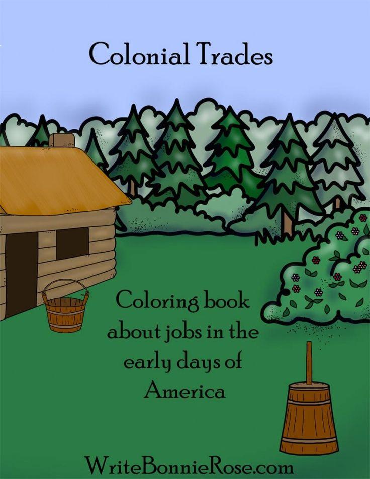 FREE Colonial Trades Coloring Book - WriteBonnieRose.com
