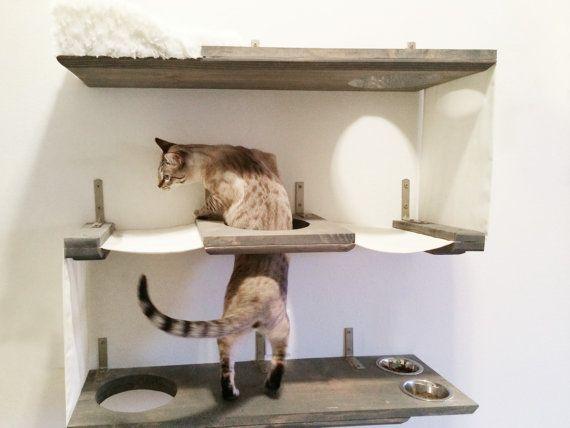 Nivel 3 Cat Bunker - gato hamaca estantes