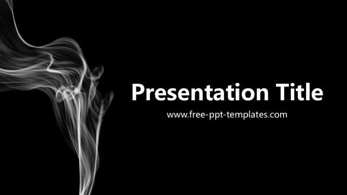 Smoke Powerpoint Template Medical Powerpoint Templates Pinterest
