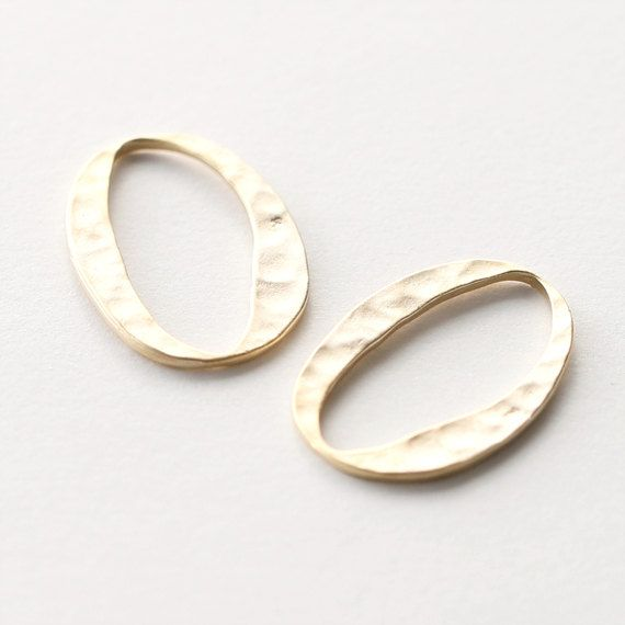 3194024 / Hammered Oval / 16k Matt Gold Plated Pewter by OBCsupply