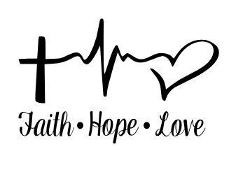 Faith hope love painted rock idea