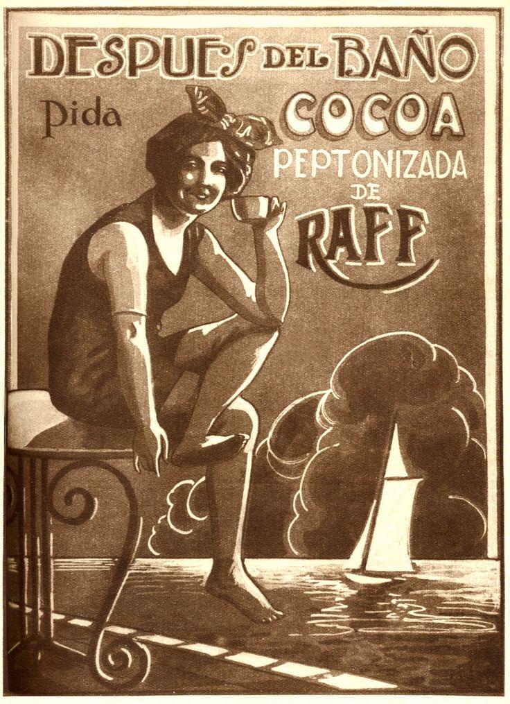 Aviso Cocoa Peptonizada de Raff Año: 1926 Autor: Imprenta Editorial Zig-Zag Lugar: Santiago Archivo: Revista Zig-Zag, Biblioteca Nacional de Chile