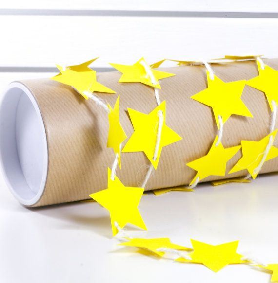 Yellow Stars Bunting Garland Banner Carneval by 21january on Etsy