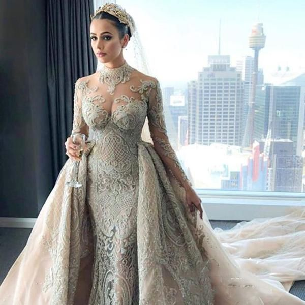 Arabic Luxury Mermaid Wedding With Train Sonocouture Bridal Dresses Wedding Dresses Beautiful Wedding Dresses