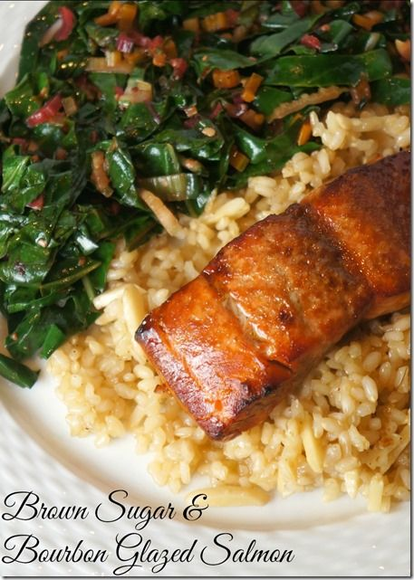 brown sugar and bourbon glazed salmon // A Healthy Slice of Life