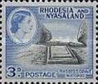 Rhodesia and Nyasaland, 12.8.1959-1962, Queen Elizabeth II., No.23 3P light blue/black. Stamped 0,11 USD, Mint Condition 0,11 USD.