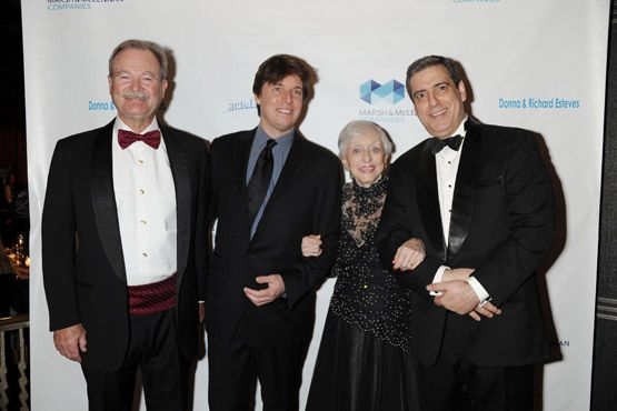 Brian Duperreault, Joshua Bell, Celeste Holm & Frank Basile