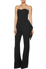 STELLA MCCARTNEY Layered stretch wool-blend jumpsuit  Designer Jumpsuits | Sale up to 70% off | US | THE OUTNET