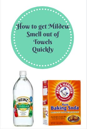 Often enough, the smell is caused by mildew that sets in after use, and isn't very easy to get rid of.