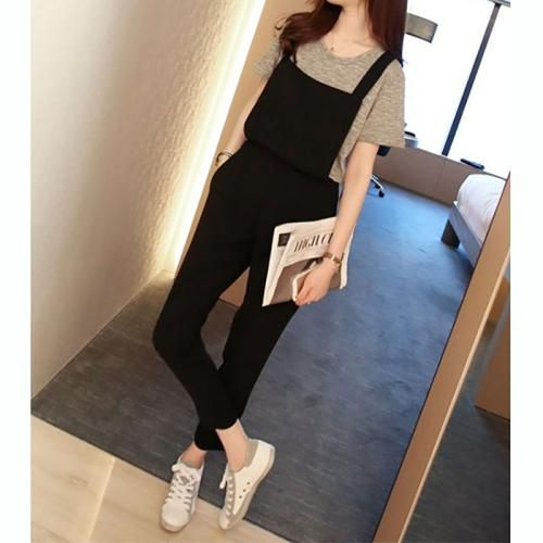 New Women Lady Clubwear Suspender Pants Overall Playsuit Long Full Romper