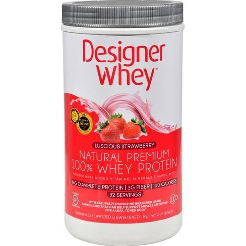 Designer Whey Protein Powder Strawberry - 2 Lbs - 0116483