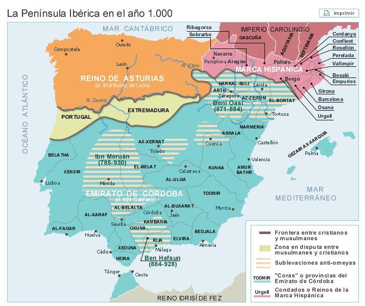 La Península hacia el año 1000