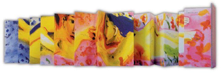 «El amor te espera», de Fabian Negrin: un poema de amor de 2,5 m con forma de acordeón. Un hermoso libro-objeto, un retrato erótico de dos amantes que se aman sin fin. http://www.veniracuento.com/