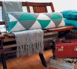 Knitted Bolster Cushion. #Knitting #Craft #SouthAfrica