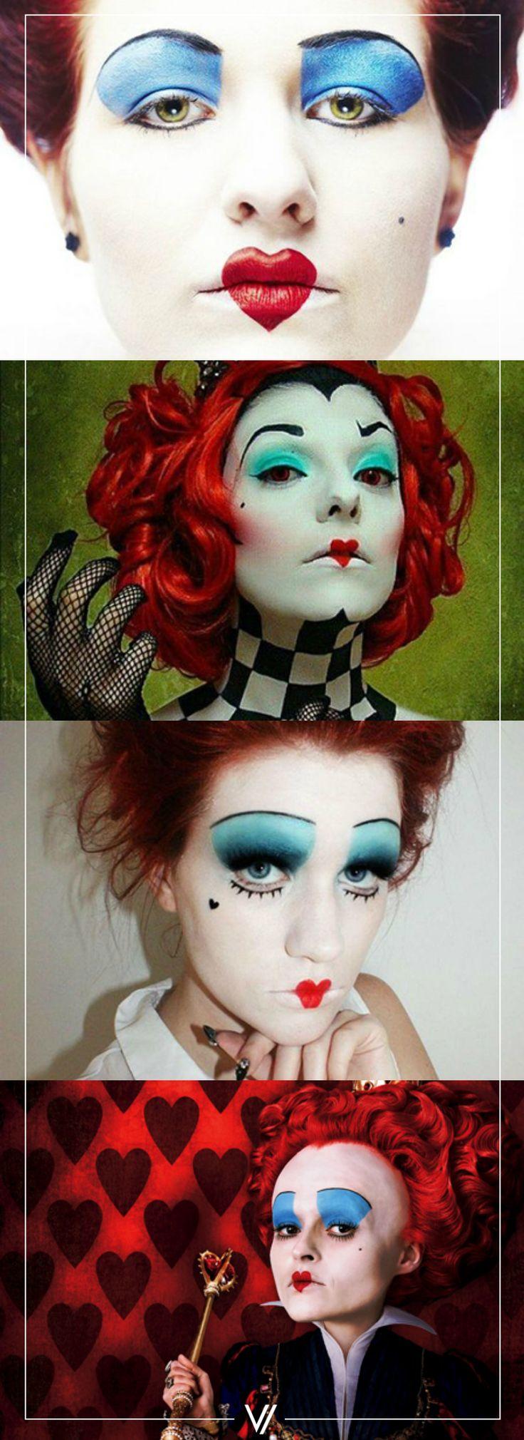 Maquillaje de Reina Roja.  #Makeup #Costume #Halloween