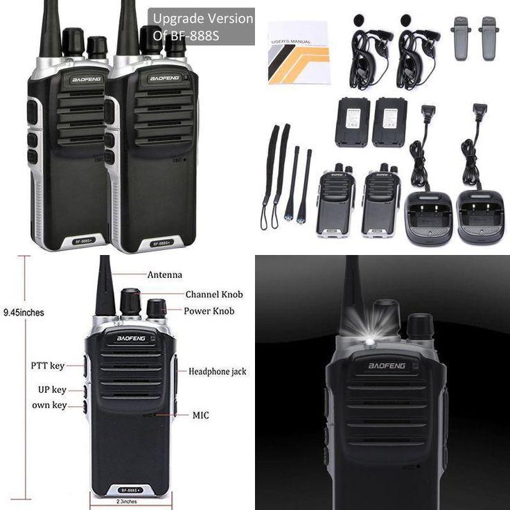 2 Way Radio Walkie Talkie UHF Set 2 Pack Long Range Security Patrol Police Alert #RadioWalkieTalkie