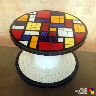 """Carretel em mosaico """"Mondrian Style"""""""