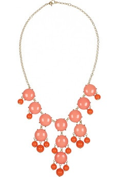 Bubble 18-karat gold-plated resin necklaceBubbles 18 Karate, Jcrew Bubbles, J Crew Bubbles, Gold Plat Resins, Resins Necklaces, Bubbles Necklaces, Coral Bubbles, Bubble Necklaces, 18 Karate Gold Plat