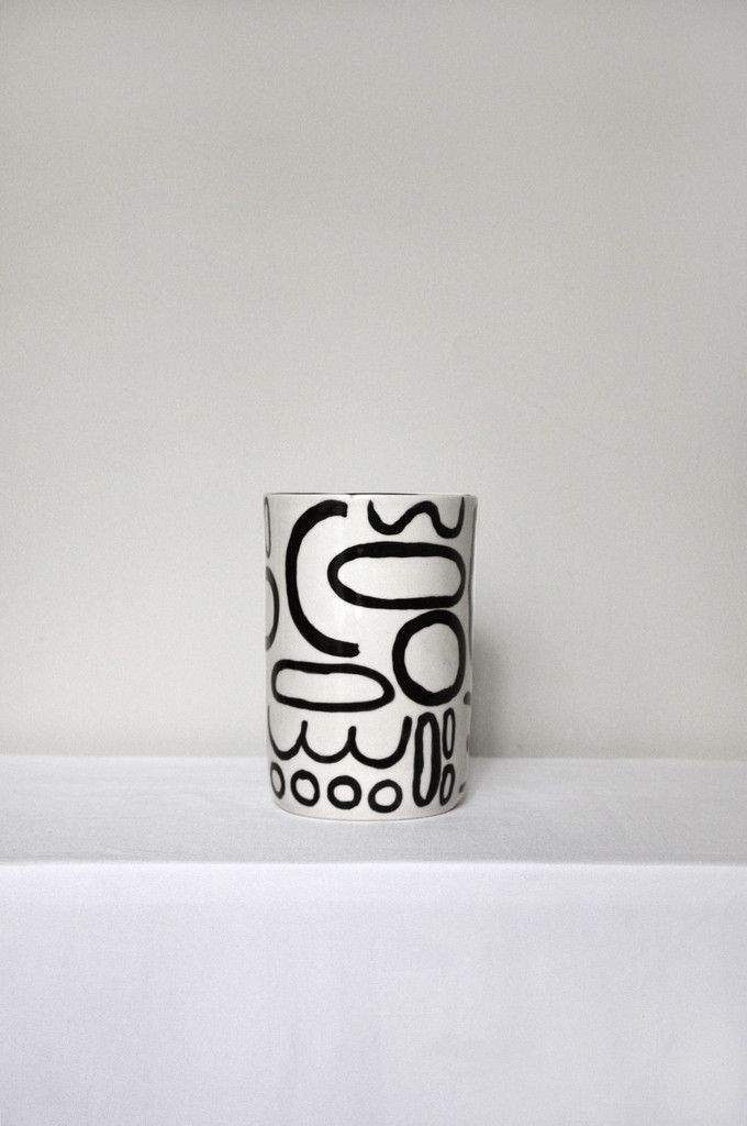 Doodle Vase by btw Ceramics. Beautifully crafted and designed with irregularities that capture the maker's hand. All vases are handmade, each piece is unique and may vary slightly in shape and size fr