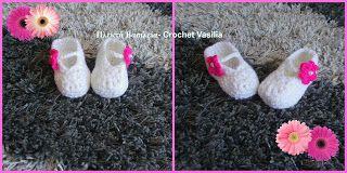 ΠΛΕΚΤΑ ΒΑΣΙΛΕΙΑ - CROCHET VASILIA : Ενα ζευγάρι παπουτσάκια αγκαλιας για μια μικρή κου...
