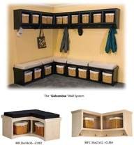 coat racks with bench and storage - Google Search