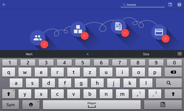 Tablet Számla DashBoard összesített forgalmi adatok és diagramok, szabad szavas keresés (partner, bizonylat sorszám, hivatkozás, szerződés szám, projektszám stb.)  Az android tabletre optimalizált alkalmazás letölthető a Google Play alkalmazás piactérről, a szolgáltatás előfizethető az alkalmazáson belül (990,- HUF/felhasználó/hónap): https://play.google.com/store/apps/details?id=com.tabletinvoice.app