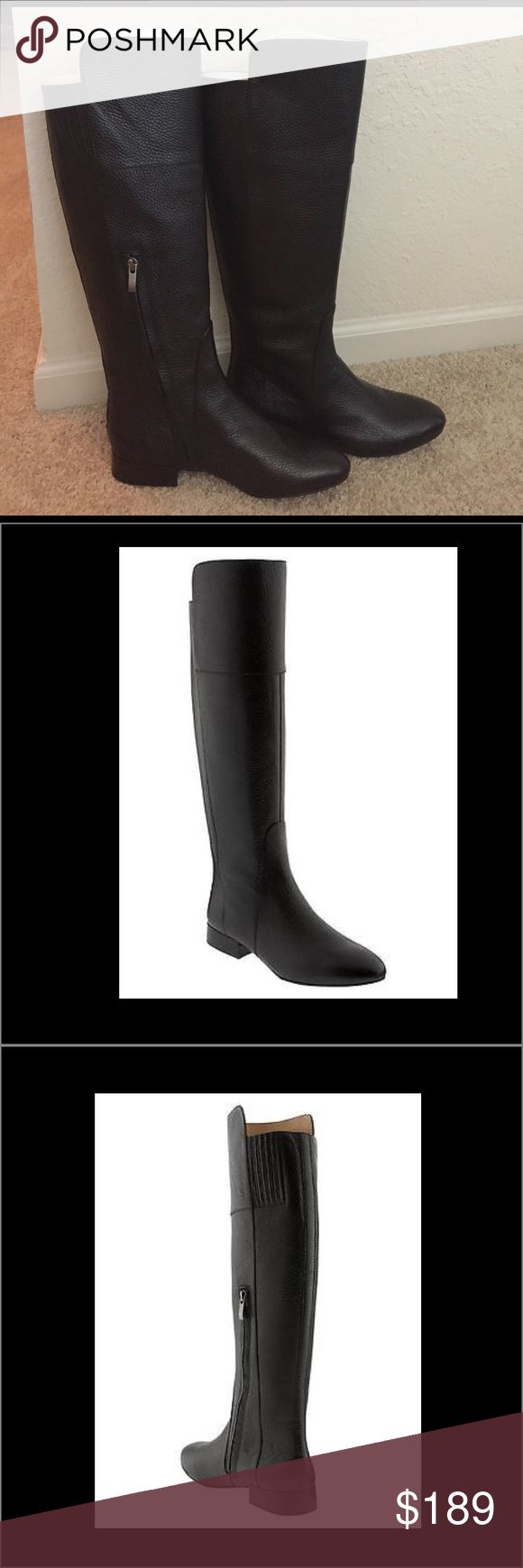 Brand new Banana Republic Fitz boot size 7.5 Brand new never worn Banana Republic Italian black leather over the knee Fitz boot size 7.5. Limited collection hard to find Originally $228. Soft leather with side zip closure. Banana Republic Shoes Over the Knee Boots