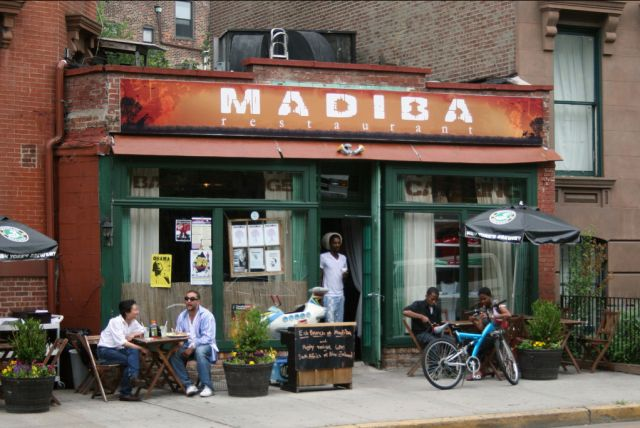 Madiba, Fort Greene | South African fare, a delicious combination of Malay, Indian, Dutch and English food. Sit back with a cold South African lager and enjoy the afro-pop beats. Recommended dish: Organic Peri Peri Chicken Wings.