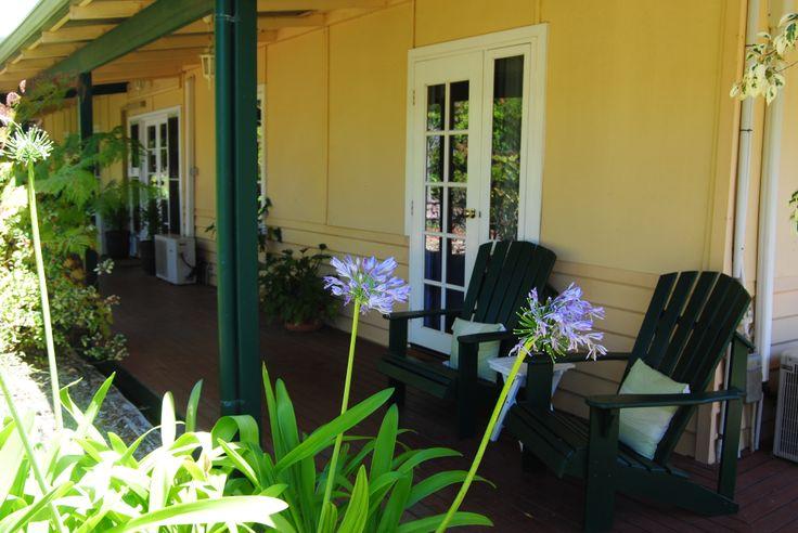 Restful veranda. www.beautifulwriting.com.au