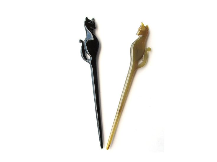 CAT HORN HAIR STICK, HAIRSTICK, HAIRPIN, HAIR PIN JEWELRY  ACCESSORY, HANDMADE #MaryCrafts