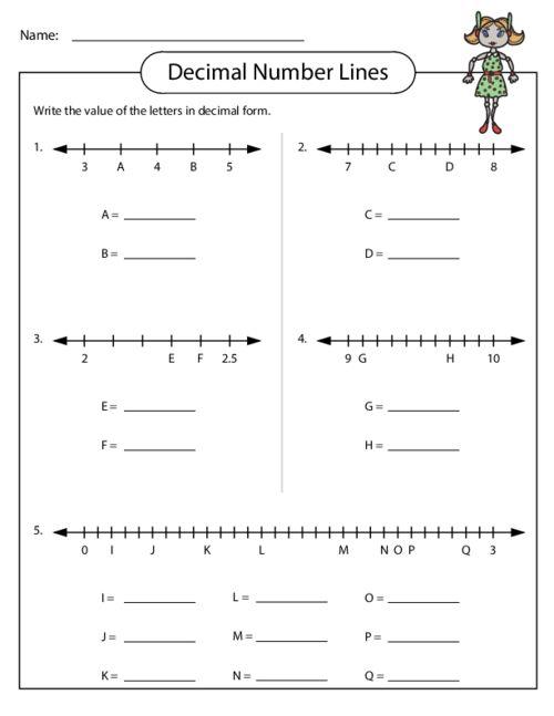 math worksheet : ordering decimals on a number line worksheet ...