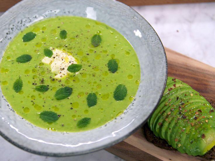 Grön ärtsoppa med avokadomacka | Recept från Köket.se