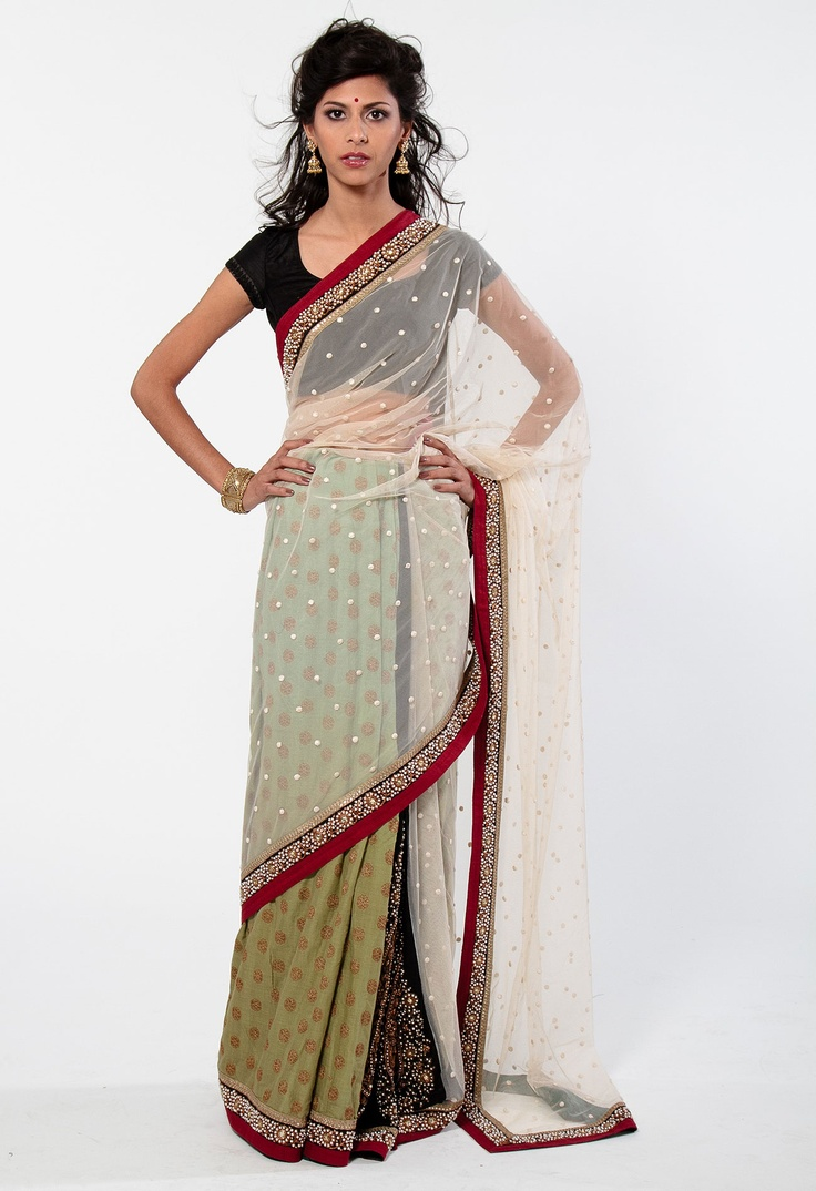 A model in a sabyasachi saree available at http://www.piakaghar.com