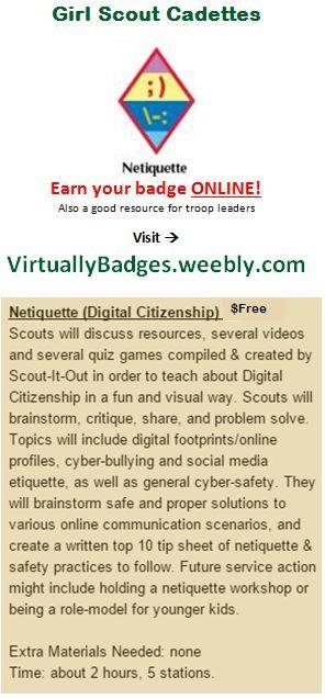 9 Best Cadette Media Netiquette Badge Images On Pinterest -9283