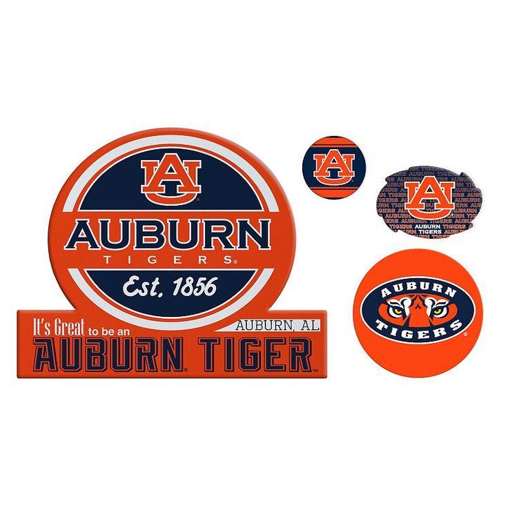 Auburn Tigers Game Day 4-Piece Magnet Set, Multicolor
