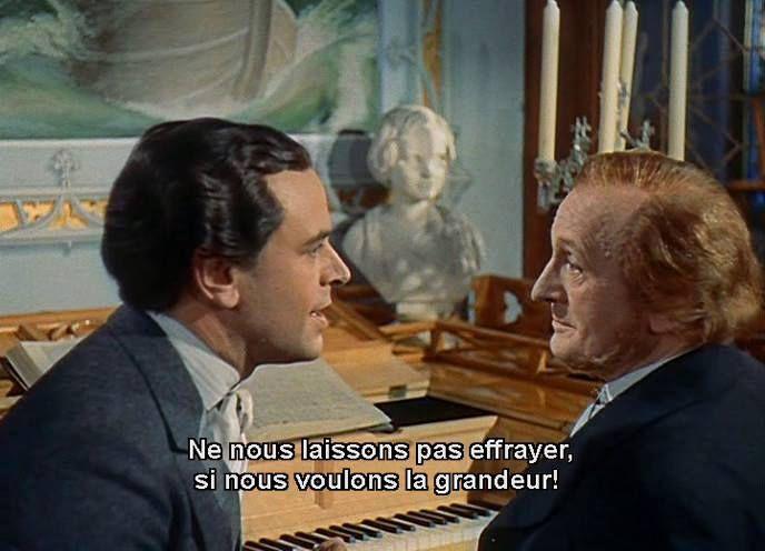 """Ludwig II: Glanz und Ende eines Königs"" (Helmut Käutner, 1955/O.W. Fischer (Ludwig II), Paul Bildt (Wagner))."