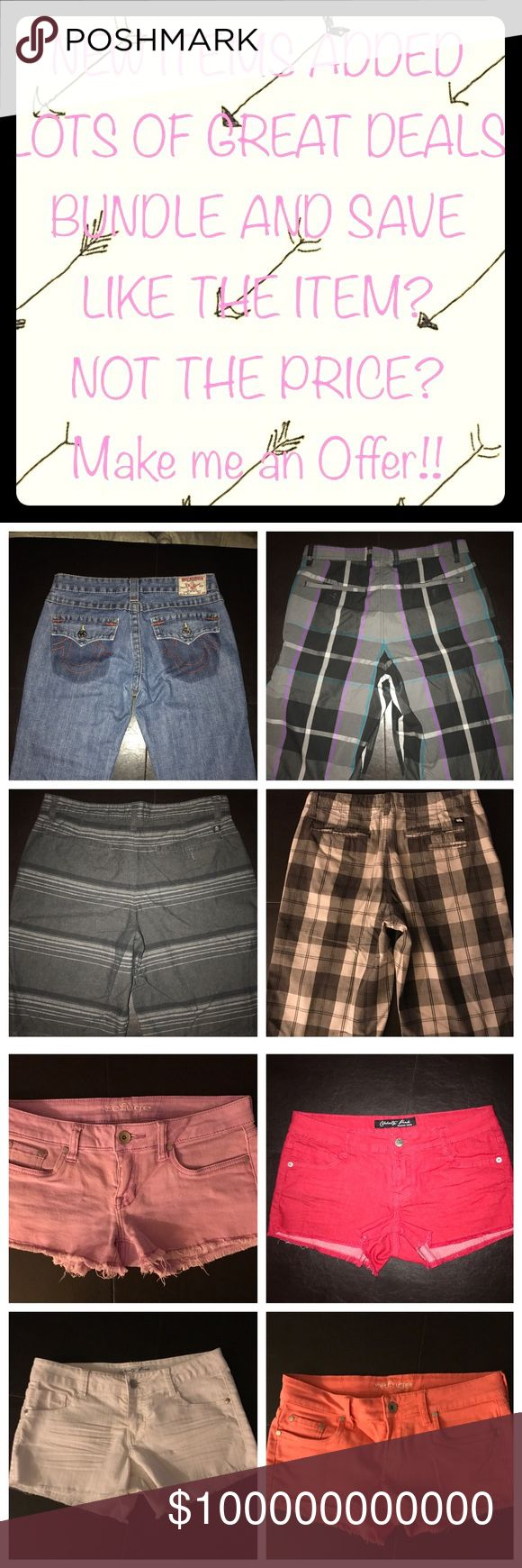 New Shorts added! Men's and Women's Tony Hawk and Vans for the Guys. Refuge and Celebrity Pink for the Ladies.  Lots of sales and offers always considered! Vans Other