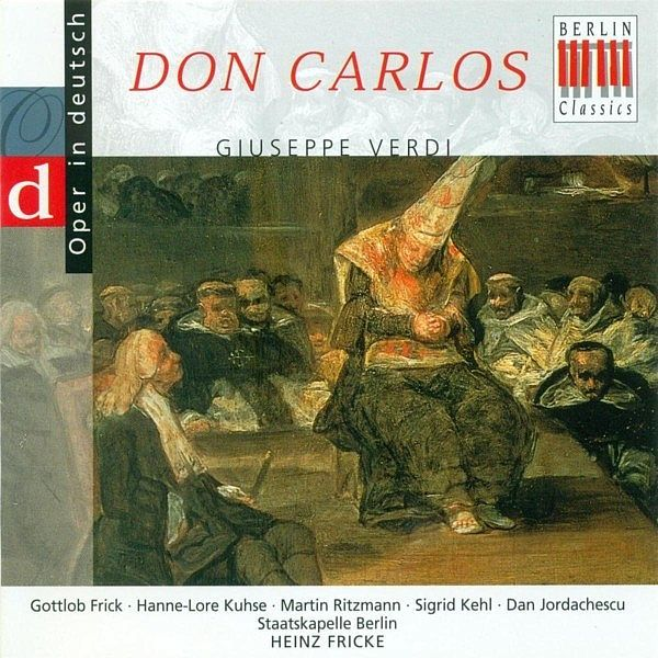 VERDI, G.: Don Carlos [Opera] (Highlights) (Sung in German) (Ritzmann) - Martin Ritzmann - Berlin Classics