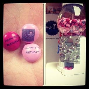 Personalised m&m's as a wee birthday treat! Happy 5th Birthday Vanity