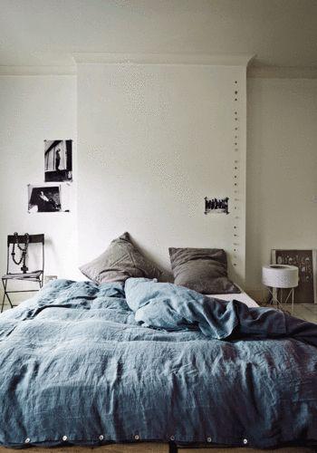 Linen duvet cover 220 x 240 cm - Blue grey