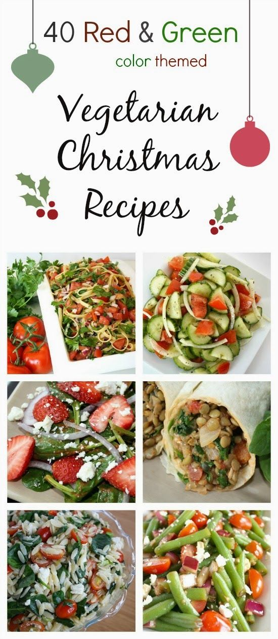 Vegetarian Christmas Recipes (Color Themed!)