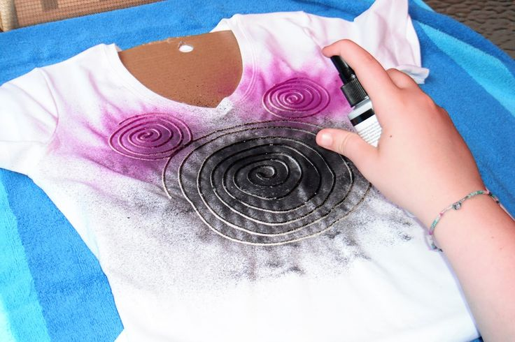 Spiral Mickey Head T-Shirts - Fun Fabric Painting technique