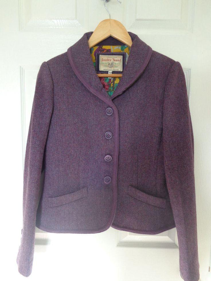 Joules heather tweed jacket 12