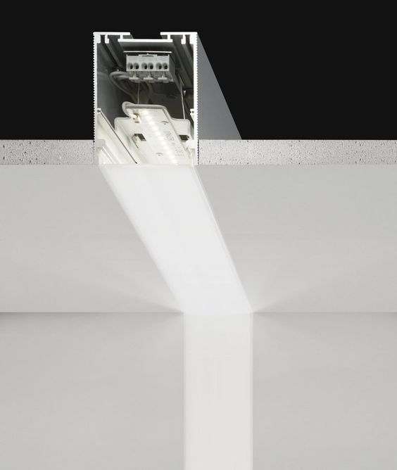 Built-in linear led module NEW PROFILE SYSTEM New Profile System Collection by PANZERI: