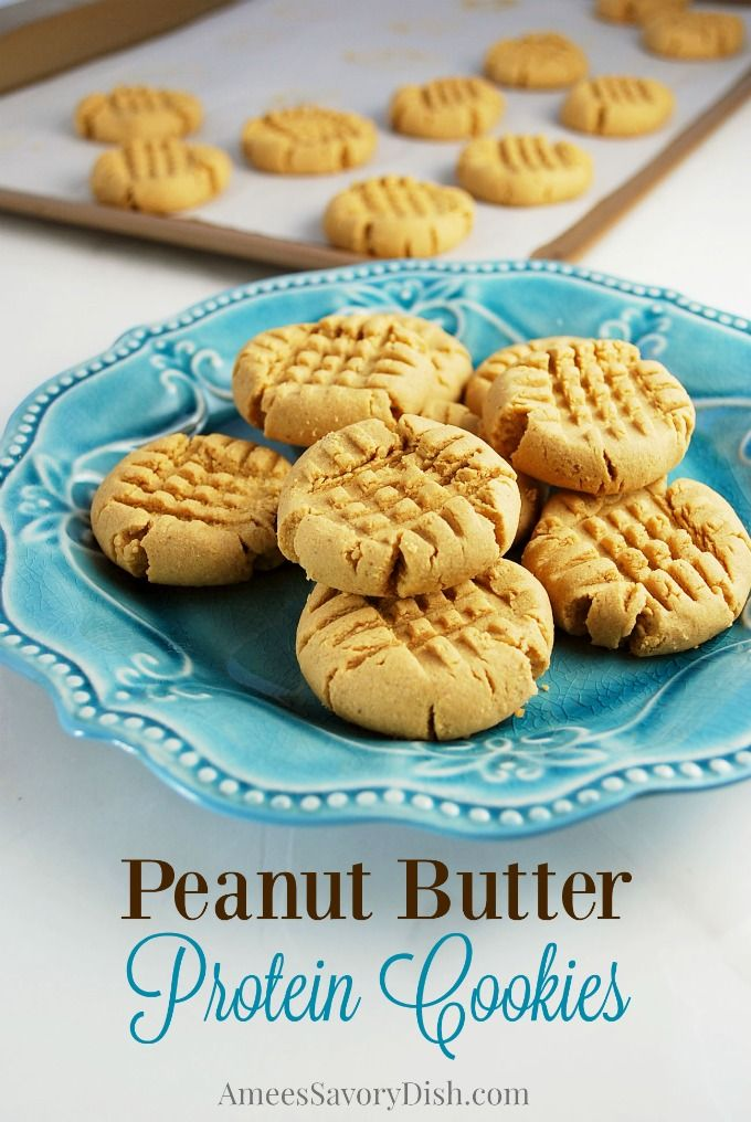 Peanut Butter Protein Cookies pin