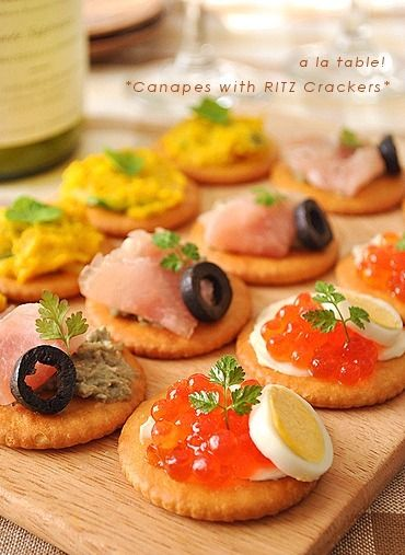 リッツでおつまみ~3種のカナッペ~ by saeさん | レシピブログ - 料理 ...
