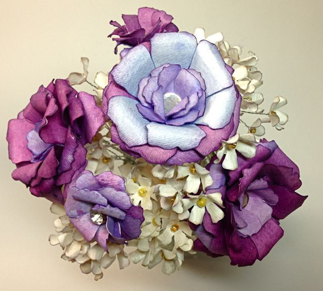 How to Make Watercolor Paper Flowers - tutorial by Amy Bowerman