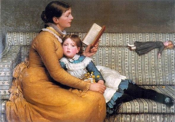 George Dunlap Leslie: Oil On Canvas, Alice In Wonderland, Art Prints, Leslie 1879, Painting, George Dunlop, Dunlop Leslie, 1835 1921, Aliceinwonderland